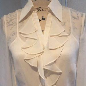 Tesori Tops - 100% pure silk Tesori blouse, like new